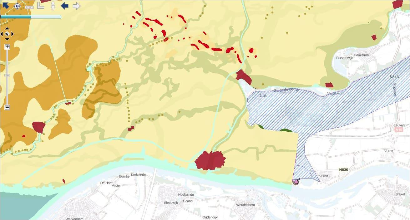 Detail Cultuurhistorische Atlas Zuid-Holland