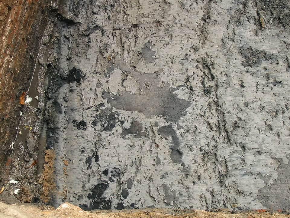 In de ophogingslagen werden voetsporen van mens en vee aangetroffen.