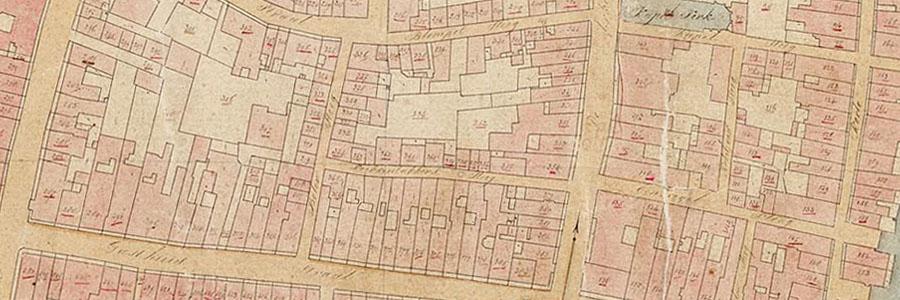 Detail kadastrale minuut Gorinchem 1832