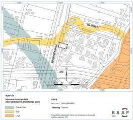 Ligging van de holocene stroomgordels ten opzichte van het plangebied Boezem Gorinchem