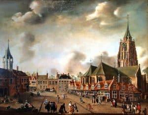 De Groenmarkt omstreeks 1650 , J. Beerstraten. Collectie Earl of Aylesford, Meriden (Coventry)