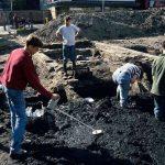 Blijenhoek legt Gorcum bloot, sporen van huizen gevonden uit de 14e eeuw