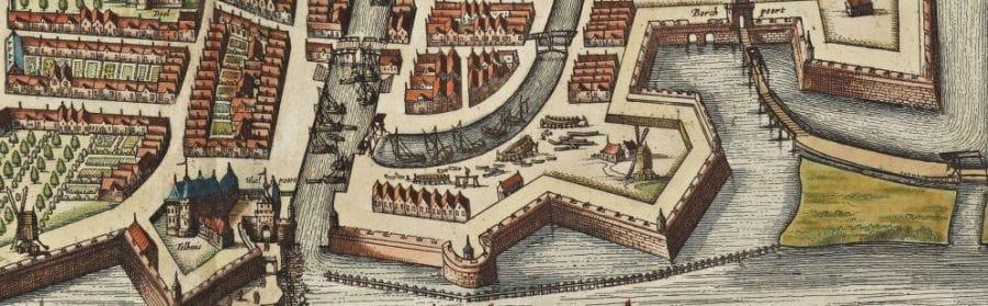 Detail kaart Gorinchem Joan Blaeu 1652
