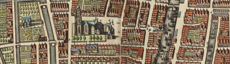Detail kaart Gorinchem door Joan Blaeu 1652