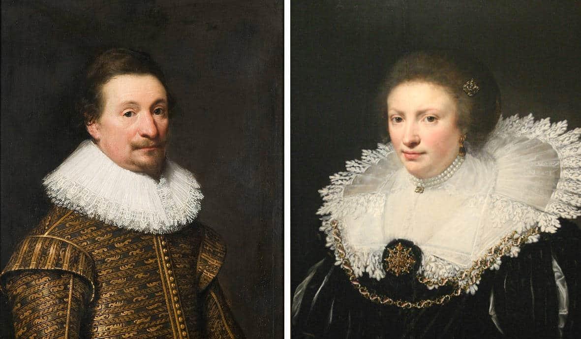 Jacob van Paffenrode en zijn vrouw Wilhelmina van Arckel door J.A. van Ravesteijn (1626), collectie RCE
