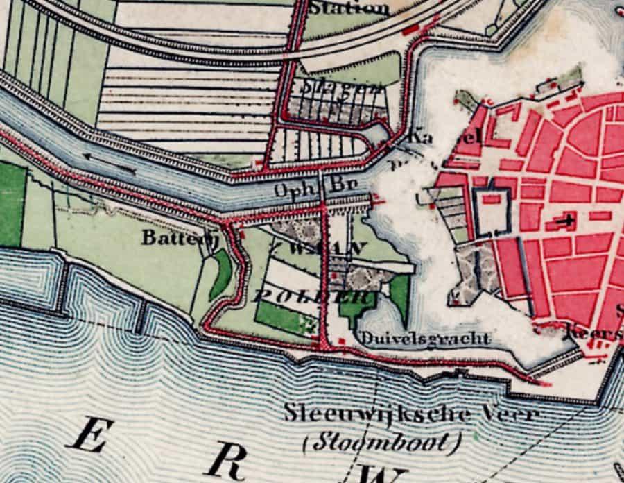 Zwaanpolder kadastrale kaart Gorinchem