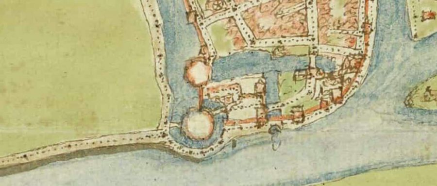 Detail stadsplattegrond, Jacob van Deventer (1558), Hingman Collectie, Nationaal Archief