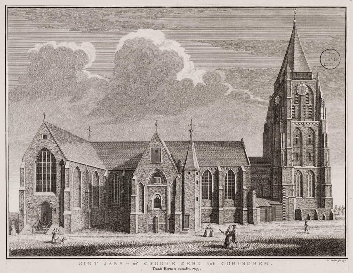 Grote kerk Gorinchem 1755