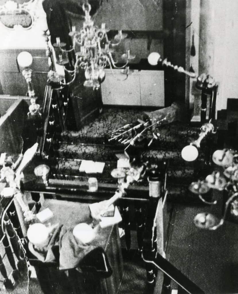 Vernield interieur synagoge januari 1941, fotocollectie Regionaal Archief Gorinchem