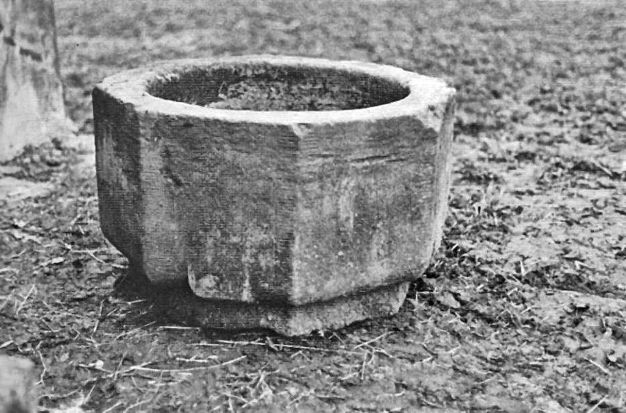 Verdwenen 13de eeuws doopvont uit het kasteel van de heren van Arkel in het Wijdschild te Gorinchem