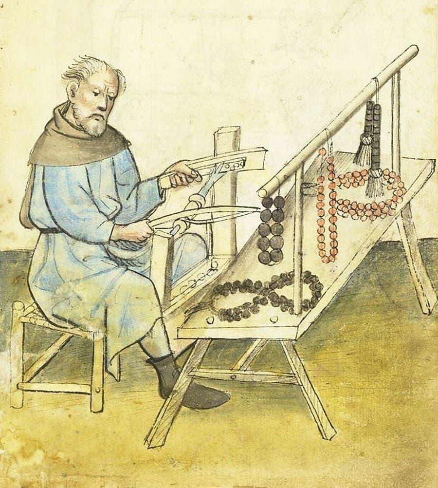 Het maken van paternosterkralen