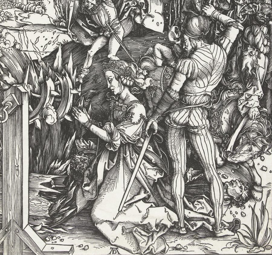 Het martelaarschap van de Heilige Catharina, Albrecht Dürer, 1496 - 1500