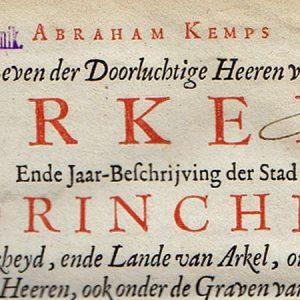 Oudste publicaties over de geschiedenis van Gorinchem