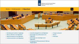 Homepage Erfgoedwet RCE
