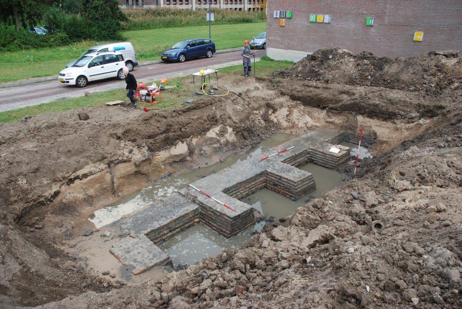 Resten van de laatmiddeleeuwse stadsmuur aan de Bagijnenwalstraat Gorinchem 2019