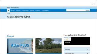 Homepage Atlas Leefomgeving