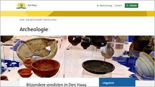 Archeologie Den Haag