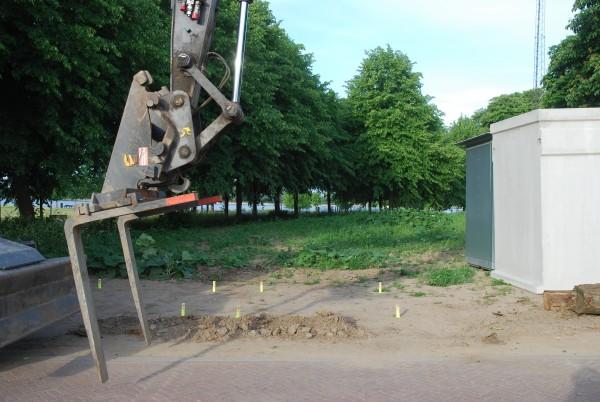 Begeleiding plaatsen vuilcontainers Buiten de Waterpoort (2019)