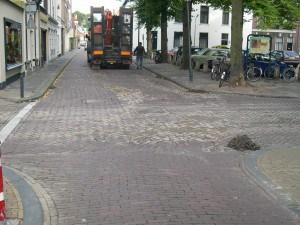 Keizerstraat 2a, stadsmuur (2004)